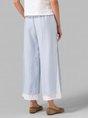 Casual Plus Size Patchwork Pants
