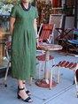 Women Shift Daytime Pockets Solid Dress