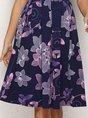 Purple  Sheath Daily Midi Dress