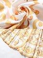 Surplice Neck Yellow A-Line Printed Wrap Maxi Dress