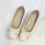 Bowknot Non-slip Pu Casual Flat Heel Shoes