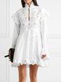 Keyhole White Eyelet Sexy Mini Dress