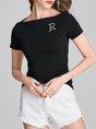 Black Sheath Short Sleeve Casual Summer T-Shirt