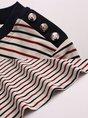 Striped Shift Short Sleeve Summer Casual T-Shirt