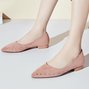 Rivet Pointed Toe Date Suede Flat Heel Shoes