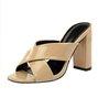 High Heel Pu Summer Peep Toe Sandals