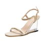 Date Pvc Metal Chain Wedge Heel Summer Sandals