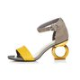 Genuine Leather Adjustable Buckle Strange Heel Sandals