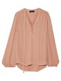 V Neck Solid Long Sleeve Work Spring/Fall Blouse