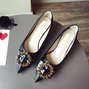 Summer Chunky Heel Date Pointed Toe Shoes