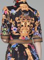 Shirt Collar Multicolor Summer A-Line Casual Paneled Maxi Holiday Dress