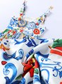 U-Neck Blue Floral Printed A-Line Casual Maxi Holiday Dress