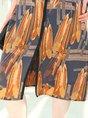 Half Sleeve Shift Paneled Printed Casual Midi Dress