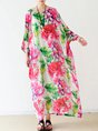 Multicolor Summer Shift Daily Paneled Floral Printed Maxi Dress