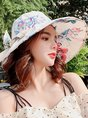 Summer Daily Holiday Floral Printed Paneled Casual Women Hat