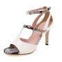 Sexy High Heel Panel Snakeskin Pattern Peep Toe Date Shoes