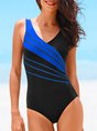 Summer Beach Casual Sleeveless Sheath One-Piece Swimwear