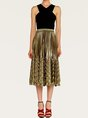Summer Casual Shimmer A-Line Pleated Midi Skirt