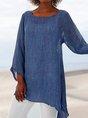 Asymmetrical Hem Long Tunic Shirt