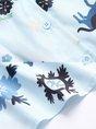 Long Sleeve Graphic Printed Elegant Paneled Work Top