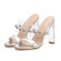 High Heel Rhinestone Date Open Toe Sandals