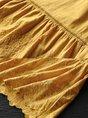 Summer Crew Neck Paneled Casual Short Sleeve Intarsia Top