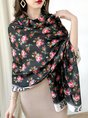 Summer Long Rebozo Women Daily Floral Printed Scarf