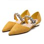 Date Rhinestone Suede Pointed Toe Shoes