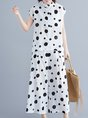 Summer Daytime Casual Polka Dots Top With Pants Two-Piece Set