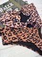 Spaghetti-Strap Leopard Print Push Up One-Piece Swimwear