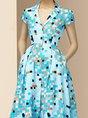 Lapel A-Line Daily Casual Midi Dress
