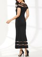 Black Sheath Party See-Through Look Paneled Maxi Dress