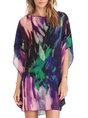 Color-Block Abstract Mini Casual Dress