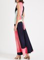 V Neck Swing Casual Holiday Maxi Dress