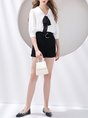 Summer White Work Solid Shift Blouse