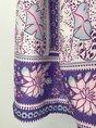 Purple Daily Paneled Boho Holiday Midi Dress