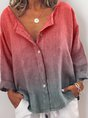Plus Size V Neck Casual Long Sleeve Top