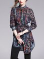 Casual Printed Abstract Daytime Daily Tunic