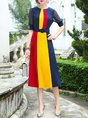 Elegant Paneled Midi Dress