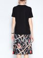Casual Daily Printed Top With Skirt Two-Piece Set