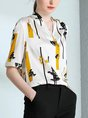 Work Business Going Out Printed Shift Blouse