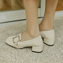 Square Toe Chunky Heel Casual Shoes