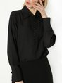 Long Sleeve Solid Elegant Blouse