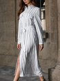 White Shift Daily Casual Printed Maxi Dress