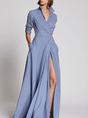 Blue Swing Holiday Elegant Maxi Dress
