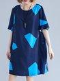 Summer Ruffled Zipper Linen Dress