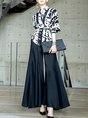 Elegant Printed Work Top With Pants Set