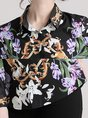 Casual Printed Animal Floral Shift Blouse
