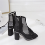 Daily Zipper Chunky Heel Boots