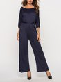 Casual Daily Shift Solid Jumpsuit